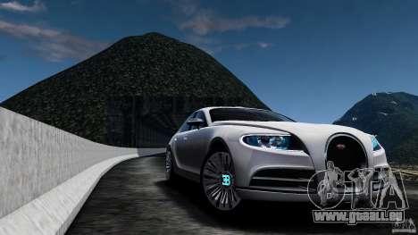 Bugatti Galibier 2009 für GTA 4 Innenansicht