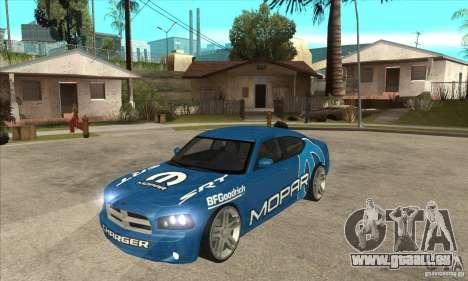 Dodge Charger R/T 2006 pour GTA San Andreas vue intérieure
