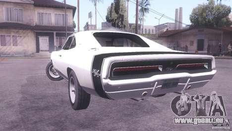 Dodge Charger R/T pour GTA San Andreas laissé vue