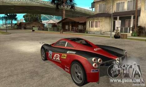 Pagani Huayra ver. 1.1 pour GTA San Andreas vue de droite