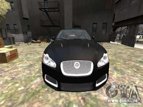 Jaguar XFR pour GTA 4 vue de dessus