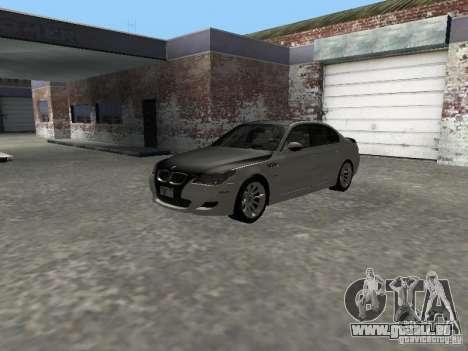 BMW M5 E60 2009 v2 pour GTA San Andreas vue intérieure