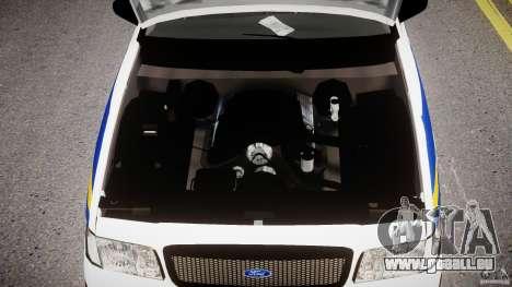 Ford Crown Victoria Croatian Police Unit pour GTA 4 est une vue de l'intérieur
