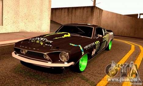 Shelby GT500 Monster Drift für GTA San Andreas Seitenansicht