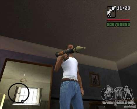 RiCkys Rocket Launcher pour GTA San Andreas deuxième écran