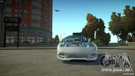 Mazda rx7 Dragster pour GTA 4 est une vue de l'intérieur