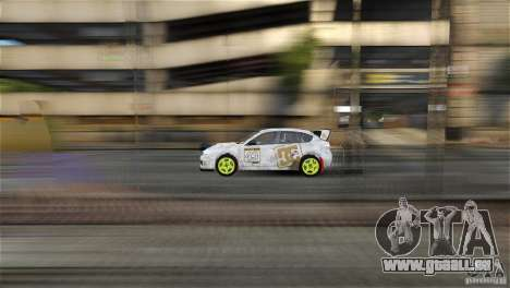 Subaru Impreza WRX STI Rallycross DC Gold Vinyl für GTA 4 hinten links Ansicht