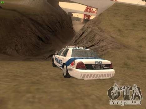 Ford Crown Victoria Vancouver Police für GTA San Andreas Seitenansicht