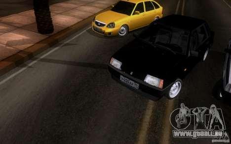 VAZ 21099 Blueline für GTA San Andreas Rückansicht