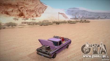 Ford F100 XLT Custom 1971 pour GTA San Andreas salon