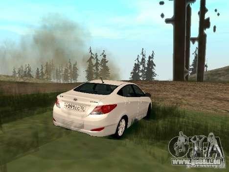 Hyundai Solaris pour GTA San Andreas laissé vue