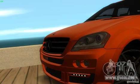 Mercedes-Benz ML63 AMG Brabus pour GTA San Andreas vue de dessus