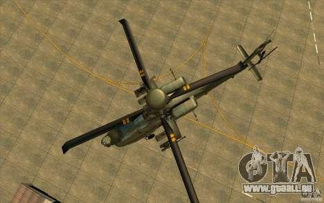 Apache AH64D Longbow pour GTA San Andreas vue de côté