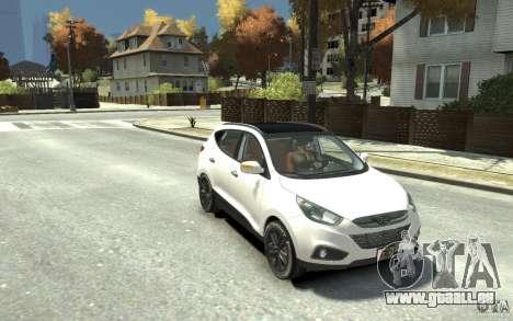 Hyundai IX35 2010 Beta für GTA 4 Rückansicht