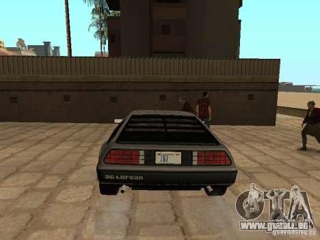 DeLorean DMC-12 1982 pour GTA San Andreas sur la vue arrière gauche