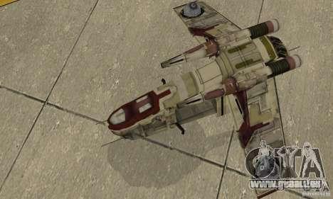 République Gunship de Star Wars pour GTA San Andreas vue de droite