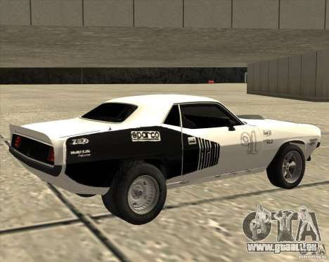 Plymouth Hemi Cuda Rogue für GTA San Andreas linke Ansicht