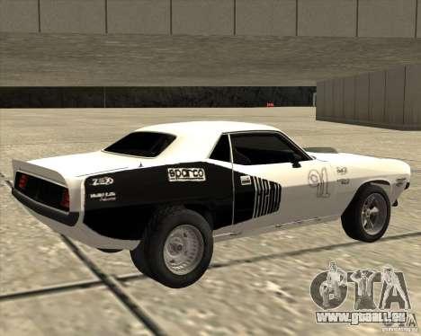 Plymouth Hemi Cuda Rogue pour GTA San Andreas laissé vue