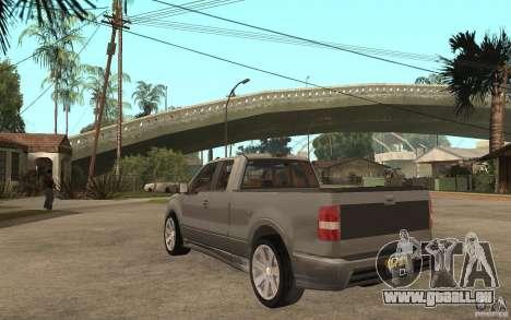 Saleen S331 Super Cab pour GTA San Andreas sur la vue arrière gauche