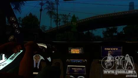 Honda NSX Extreme pour GTA San Andreas vue intérieure