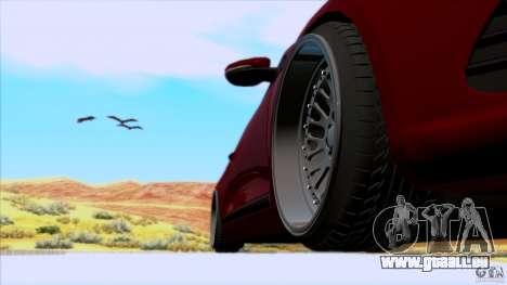 Volkswagen Sirocco pour GTA San Andreas sur la vue arrière gauche