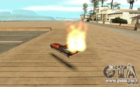 Hoverboard für GTA San Andreas zurück linke Ansicht