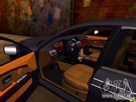 BMW Alpina B7 pour GTA San Andreas vue intérieure