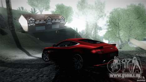 Aston Martin Vanquish V12 für GTA San Andreas zurück linke Ansicht