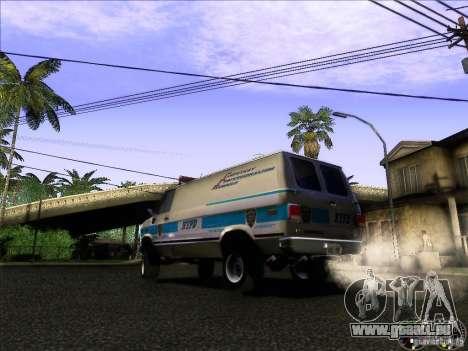 Chevrolet VAN G20 NYPD SWAT für GTA San Andreas zurück linke Ansicht