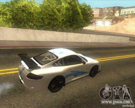 Porsche 997 GT3 RS pour GTA San Andreas vue arrière