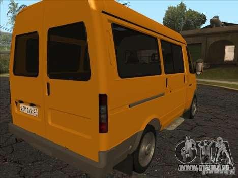 GAZ 22171 Sable pour GTA San Andreas sur la vue arrière gauche
