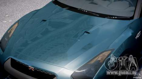 Nissan GTR R35 SpecV v1.0 pour GTA 4 est une vue de dessous