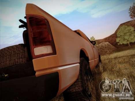 Dodge Ram 1500 4x4 pour GTA San Andreas vue intérieure