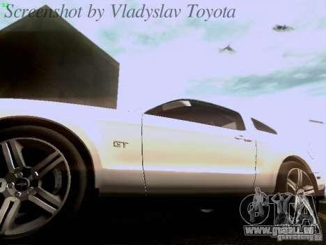 Ford Mustang GT 2011 für GTA San Andreas Innen