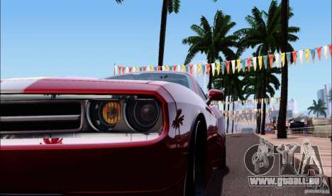 Dodge Challenger Rampage Customs pour GTA San Andreas vue arrière