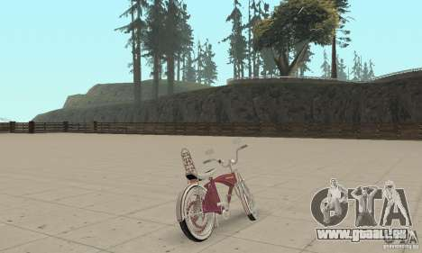 Lowrider Bicycle Custom Version pour GTA San Andreas laissé vue