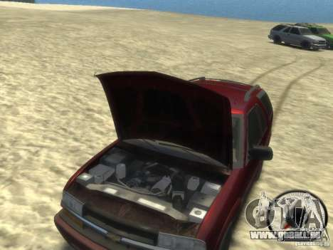 Chevrolet Blazer LS 2dr 4x4 pour GTA 4 est une vue de l'intérieur