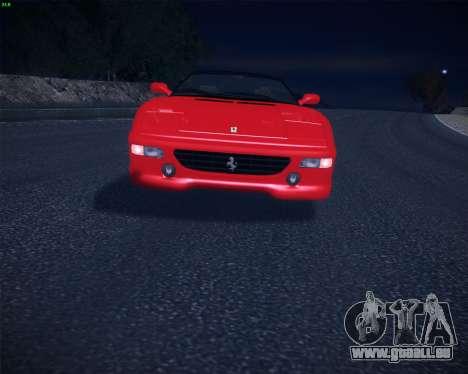Ferrari F355 Spyder für GTA San Andreas rechten Ansicht