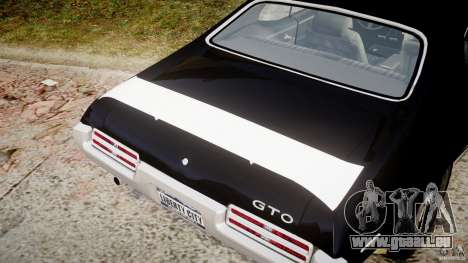 Pontiac GTO Judge pour GTA 4 est une vue de dessous