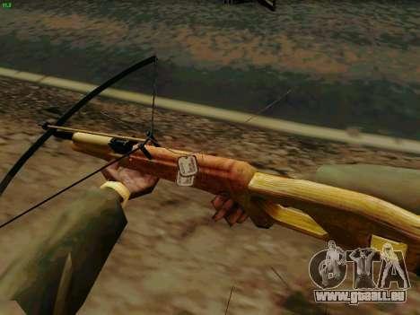 Une arbalète de travail avec des flèches pour GTA San Andreas troisième écran