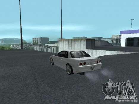 Nissan Skyline R32 Zenki pour GTA San Andreas sur la vue arrière gauche