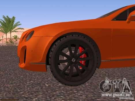 Bentley Continetal SS Dubai Gold Edition pour GTA San Andreas vue de dessus
