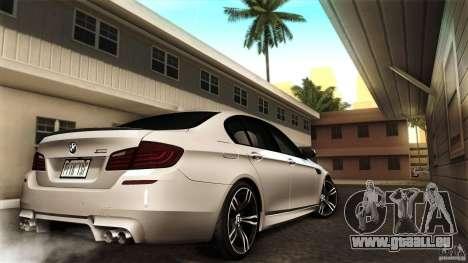 BMW M5 F10 2012 pour GTA San Andreas vue arrière