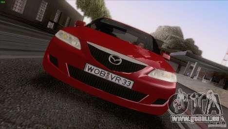 Mazda 6 2006 pour GTA San Andreas vue de dessus