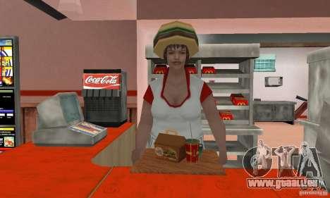 Restaurants McDonals für GTA San Andreas achten Screenshot