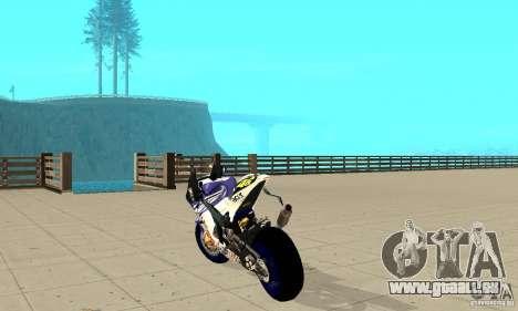 Honda Valentino Rossi Nrg500 für GTA San Andreas zurück linke Ansicht