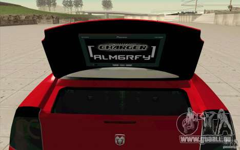 Dodge Charger RT 2010 pour GTA San Andreas vue arrière
