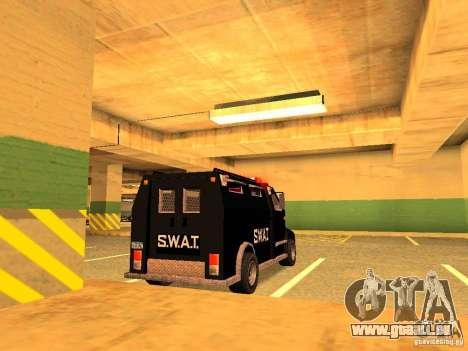 Swat III Securica pour GTA San Andreas laissé vue