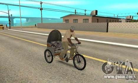 Manual Rickshaw v2 Skin1 pour GTA San Andreas vue de droite