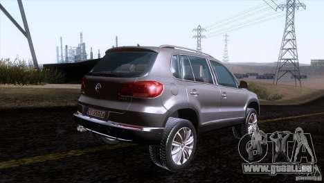 Volkswagen Tiguan 2012 pour GTA San Andreas sur la vue arrière gauche